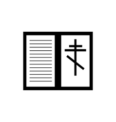 Bible book icon simple style vector image