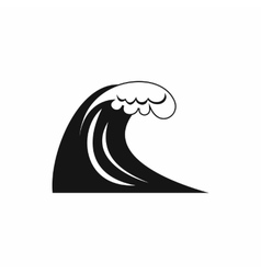 Big wave icon simple style vector