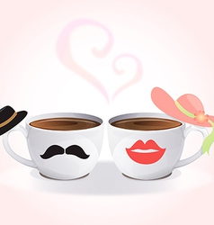 cup of love vector image vector image