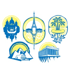 different cities vector image