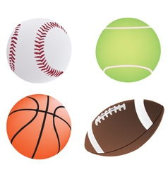 four different ball vector image vector image