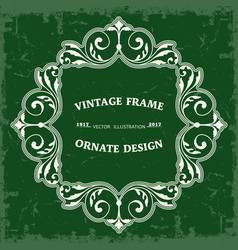 Frame in vintage style vector