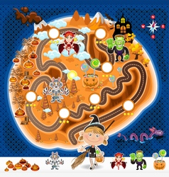 Halloween Game Assets Map vector image