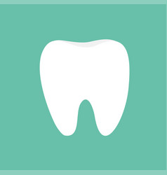 healthy white tooth icon oral dental hygiene vector image