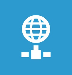 internet icon white on the blue background vector image