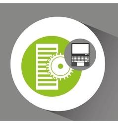 laptop technology data server gear vector image
