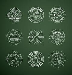Lumberjack logos vector