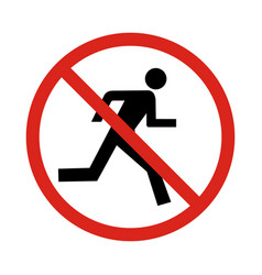 no run sign vector image vector image