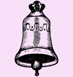 old church bell vector image