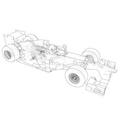 Racing car wire-frame eps10 format vector