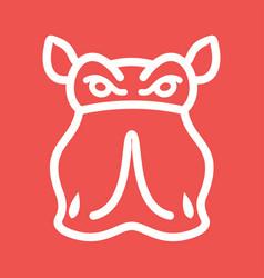 Rhino face vector