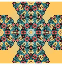 Seamless mandala pattern on henna background vector