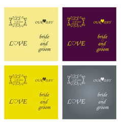 set of decorative calligraphic elements floral vector image