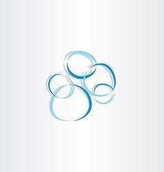 soap bubbles icon vector image