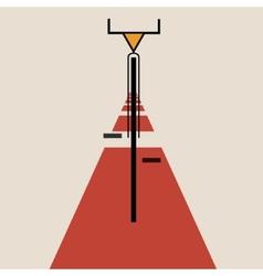 Stylized bicycle de stijl art vector