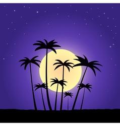 Summer night vector