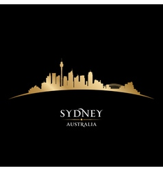 Sydney Australia city skyline silhouette vector image