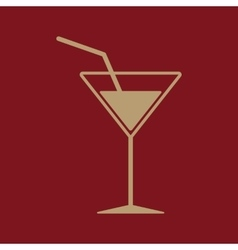 The cocktail icon Drink and party alcohol symbol vector image