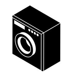 washing machine icon simple style vector image