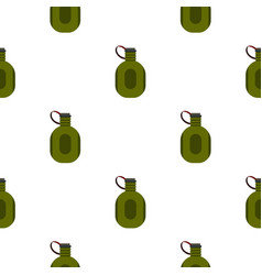 Water canteen pattern flat vector