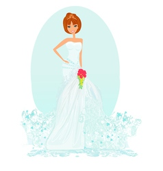 Wedding bride vector