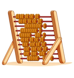 Wooden abacus for calculation vector