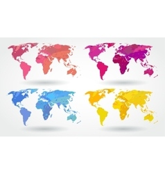 World map icons vector image