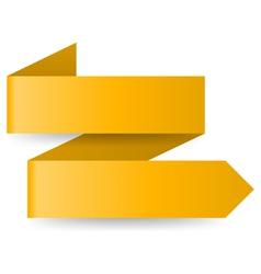Yellow paper arrow vector