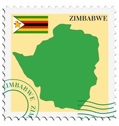 mail to-from Zimbabwe vector image