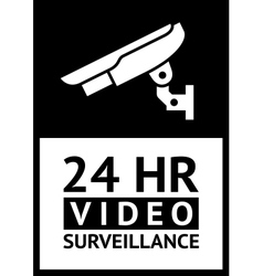Label cctv vector