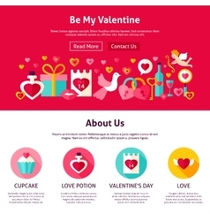 Be my valentine web design vector