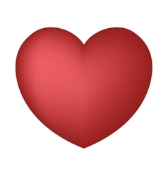 valentine heart love party design vector image