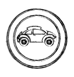 monochrome sketch of circular frame with sports vector image