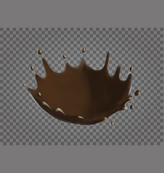 Chocolate splash realistic vector