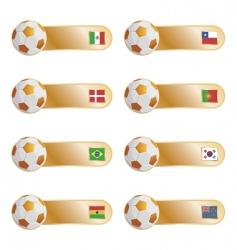 football flag tabs vector image