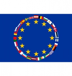 Eu flags vector