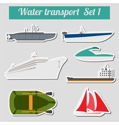 Set of water transport icon for creating your own vector