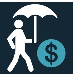 Financial insurance icon vector