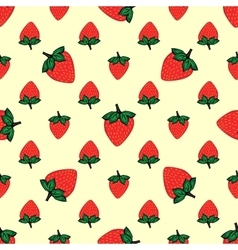 Red berries strawberry strawberry natural seamless vector