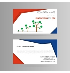 Template business card with growth icon vector