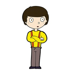 Comic cartoon staring boy vector