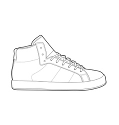 outline shoes vector image