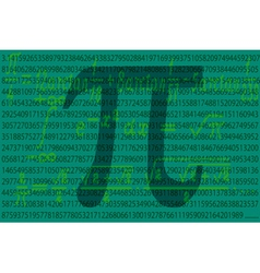 Pi number vector