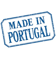 Portugal - made in blue vintage isolated label vector