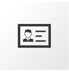 authentication icon symbol premium quality vector image