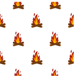 Camp fire pattern flat vector