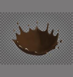 chocolate splash realistic vector image