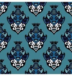 Damask Floral seamless pattern vector image