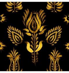 Decorative seamless pattern golden flowers vector