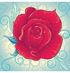 Decorative vintage rose flower vector